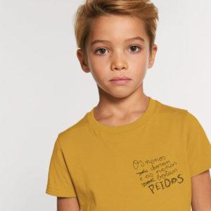 Camiseta infantil Peidos Galego