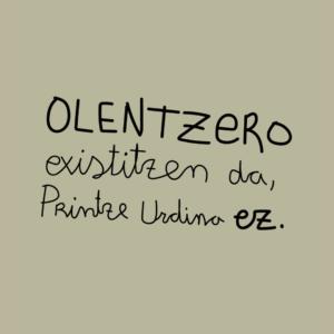 Camiseta infantil Olentzero